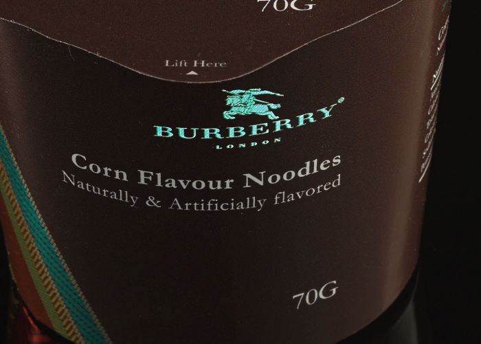 Corn-Flavored Ramen Noodles by Burberry